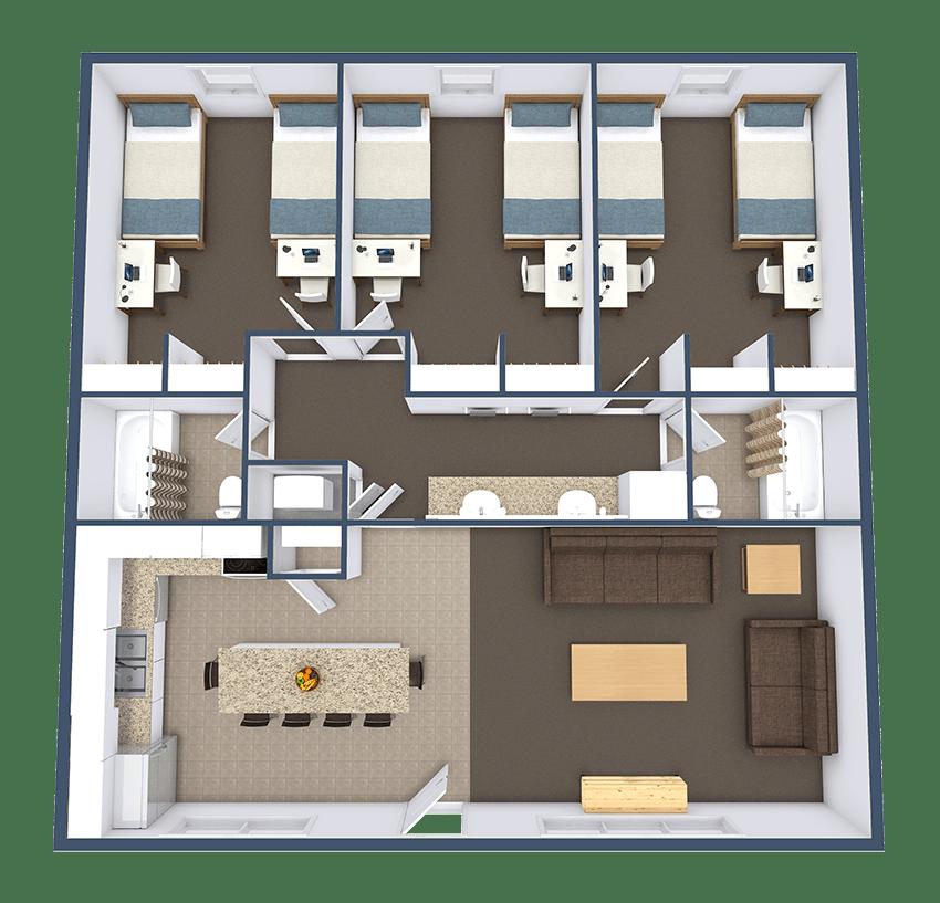 Floor Plan - Crown Apartments